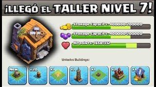 ¡LLEGÓ EL TALLER DE CONSTRUCTOR 7! - ¡TODO SOBRE LA NUEVA ACTUALIZACIÓN DE CLASH OF CLANS! - PARTE 1