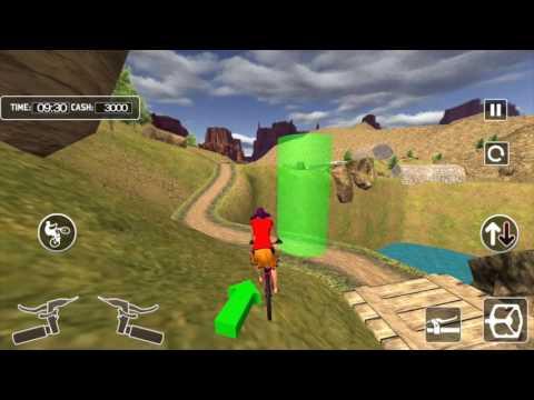 BMX Offroad Bicycle rider 3D thumbnail