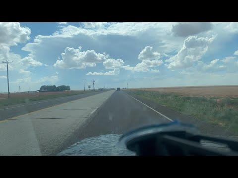 LIVE intercept of storm near Plains Texas