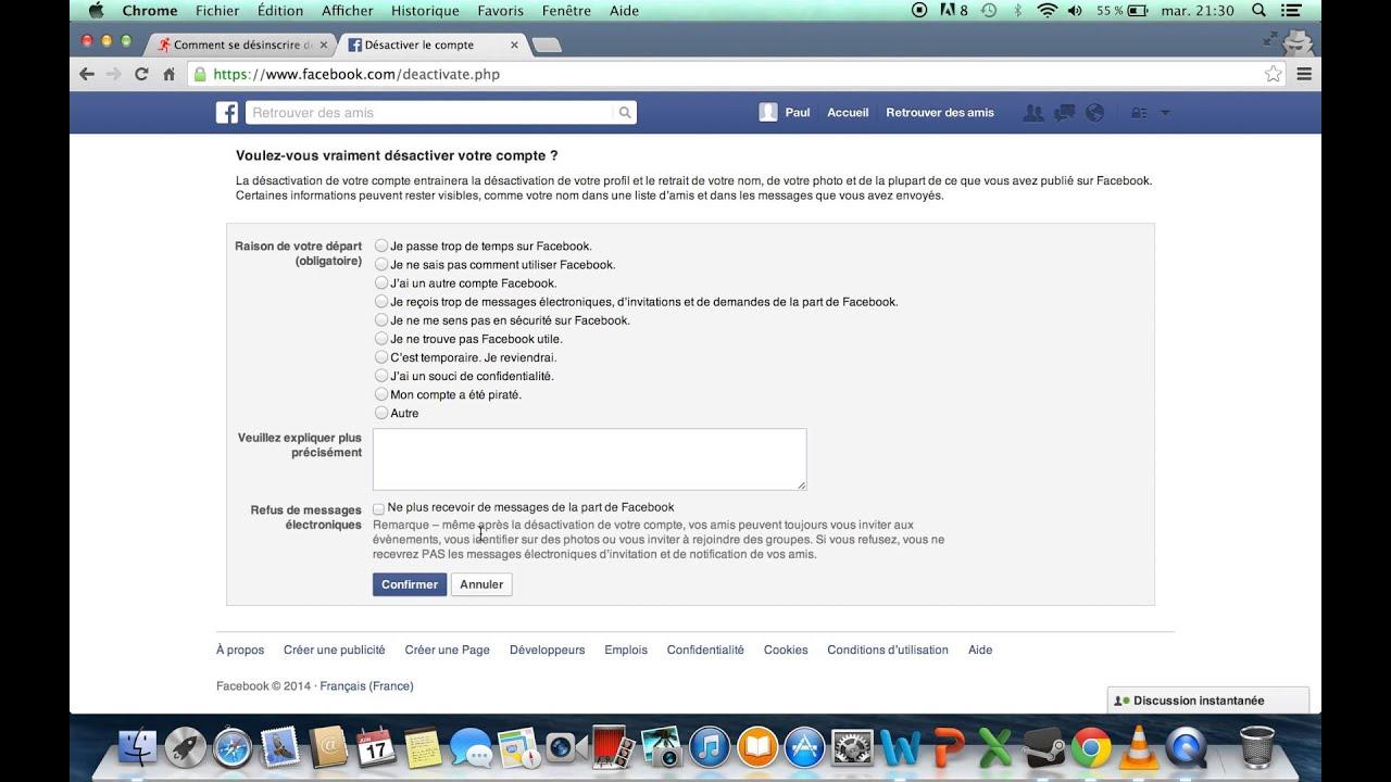 Comment supprimer un compte facebook d finitivement youtube - Comment se debarrasser definitivement des bambous ...
