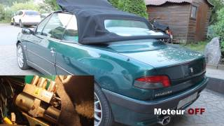Modification du décapotage de la 306 cabriolet
