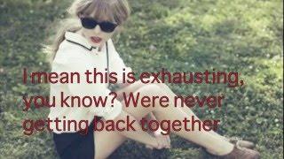 "Download Taylor Swift- ""We Are Never Ever Getting Back Together"" Lyrics Mp3"