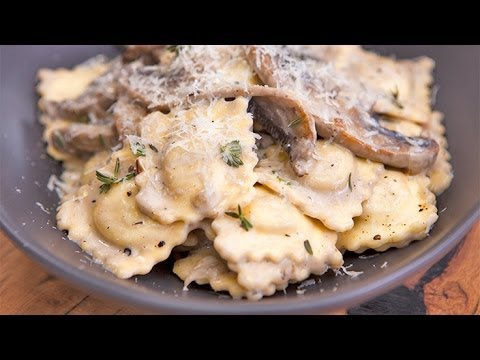 Chicken and Mushroom Ravioli with Creamy Fungi Sauce featuring Adam Swanson in Everyday Gourmet