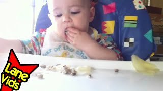Baby-led Weaning - Black-eyed Peas & Cabbage!! A New Year's Special! - Thefunnyrats