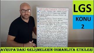 LGS-İNKILAP TARİHİ(SARSILAN TÜKENEN OSMANLI-2.KONU)