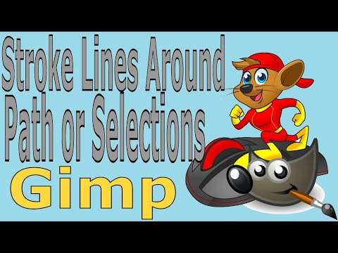 Gimp Tutorials The Fastest Way To Stroke The Selection or Paths thumbnail