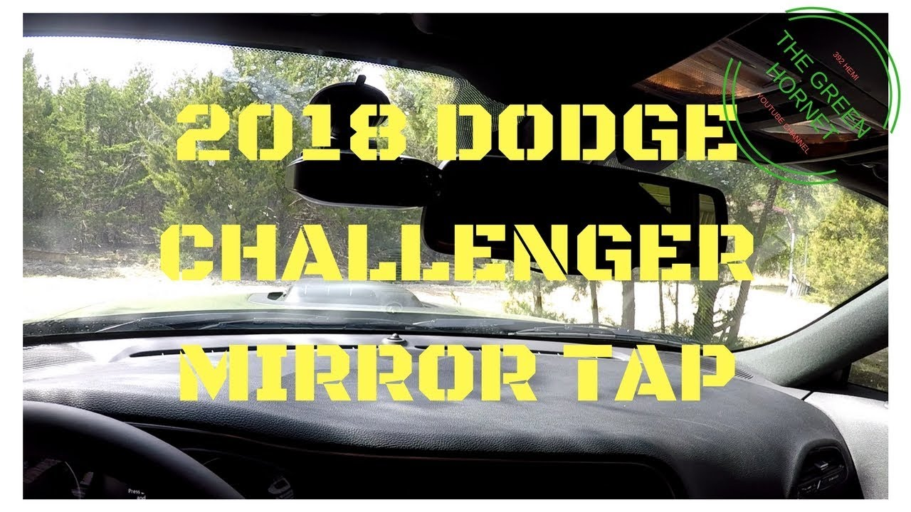 2018 challenger radar detector mirror tap install how to tutorial