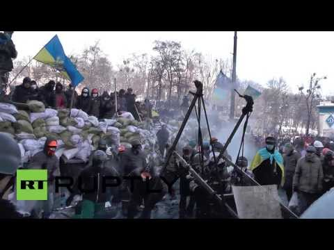 Ukraine: Maidan resembles medieval battleground in Kiev