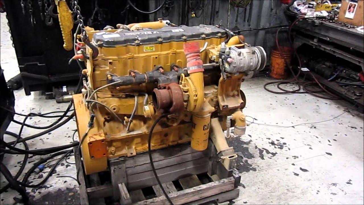 2008 Caterpillar C7 Acert Diesel Engine Running Youtube