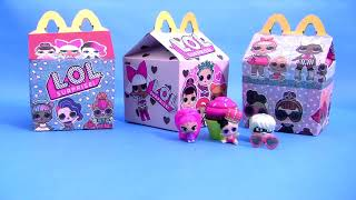 SURPRISE LOL HAPPY MEAL TOYS from McDonalds with Jelly Slime Surprise