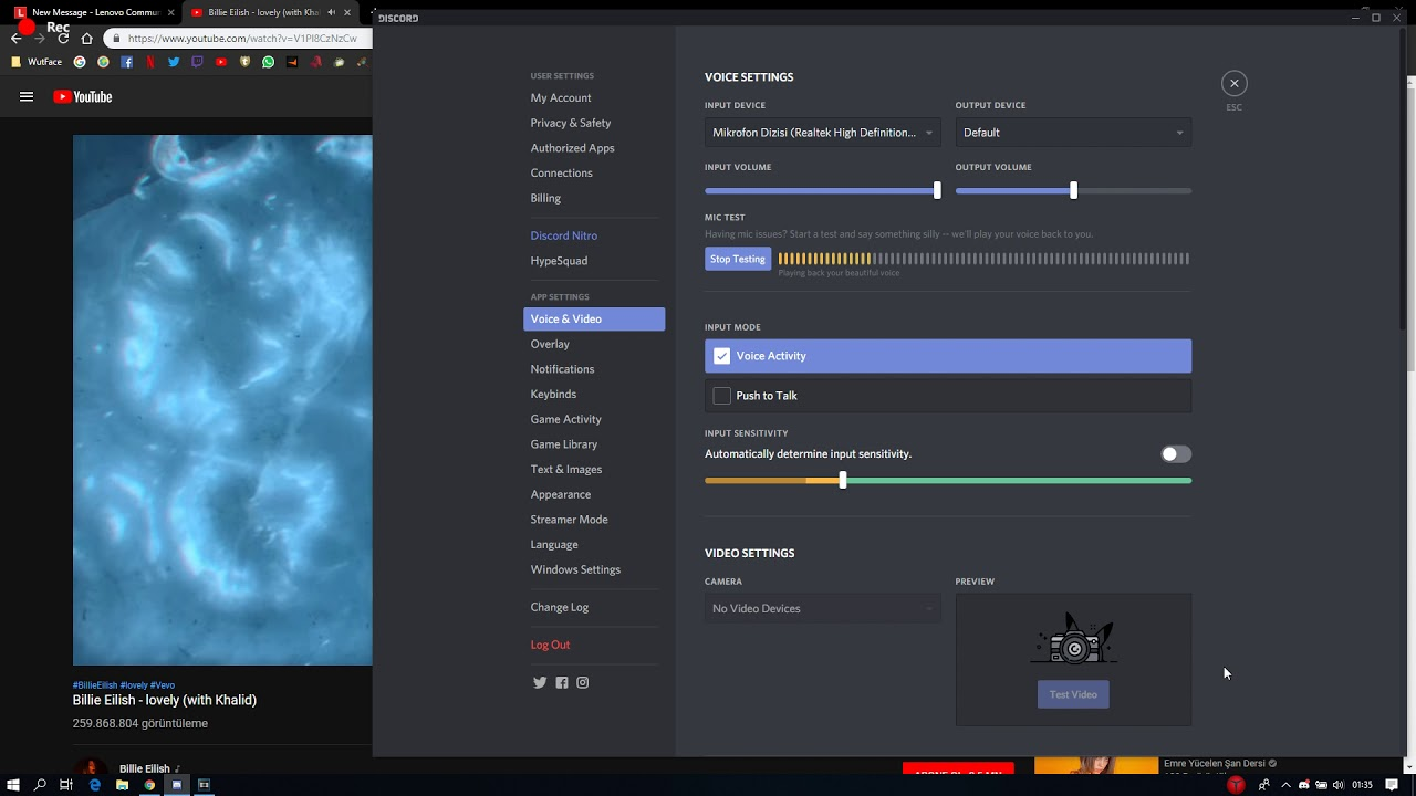 Solved Pc Sounds Goes Through Mic On Discord Lenovo Community