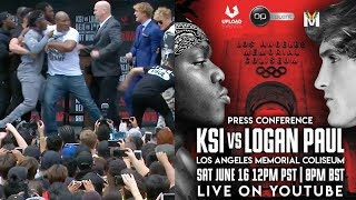 KSI VS  LOGAN PAUL PRESS CONFERENCE!(re uploaded)