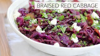 BRAISED RED CABBAGE | easy healthy side dish