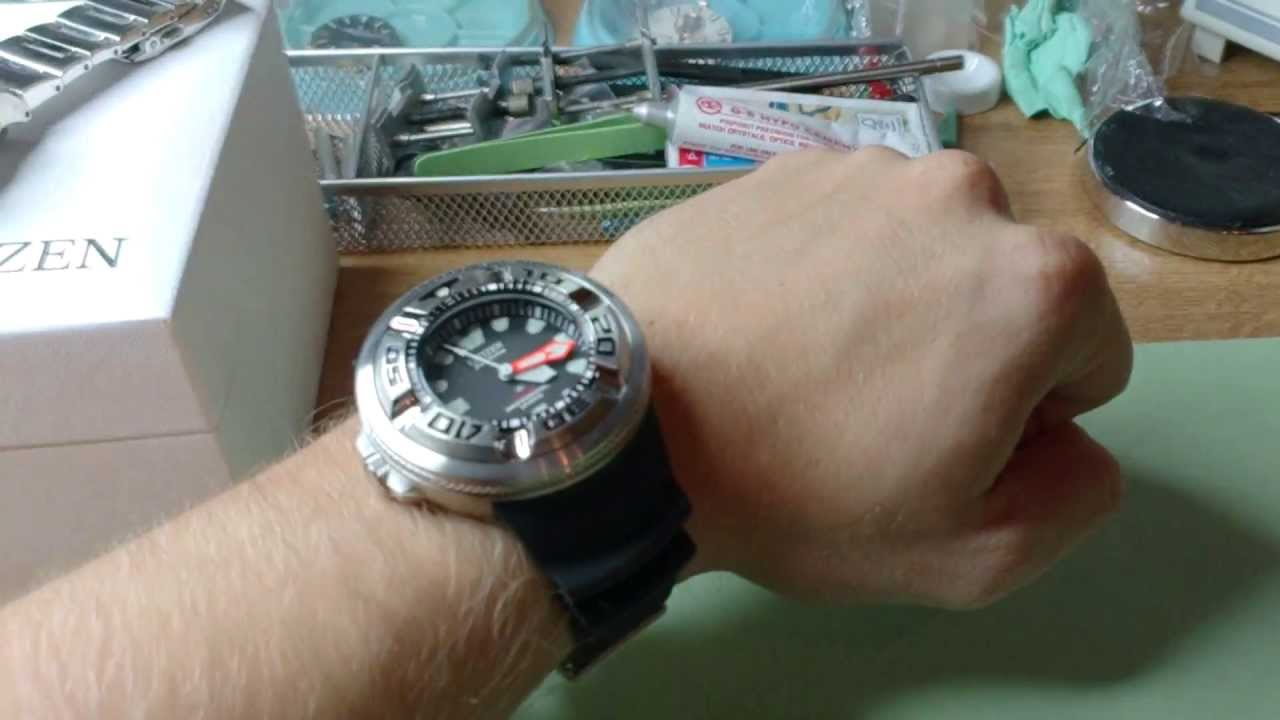 1a6782f2b CITIZEN ECODRIVE Professional Diver 300m unboxing and small review - YouTube