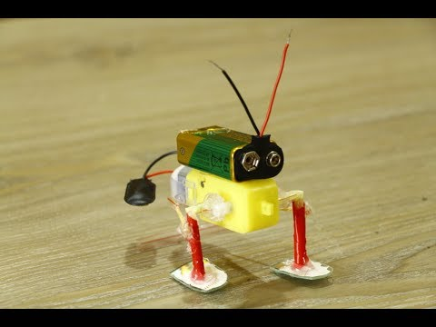 How To Make A Walking Robot At Home With Gear Motor Youtube