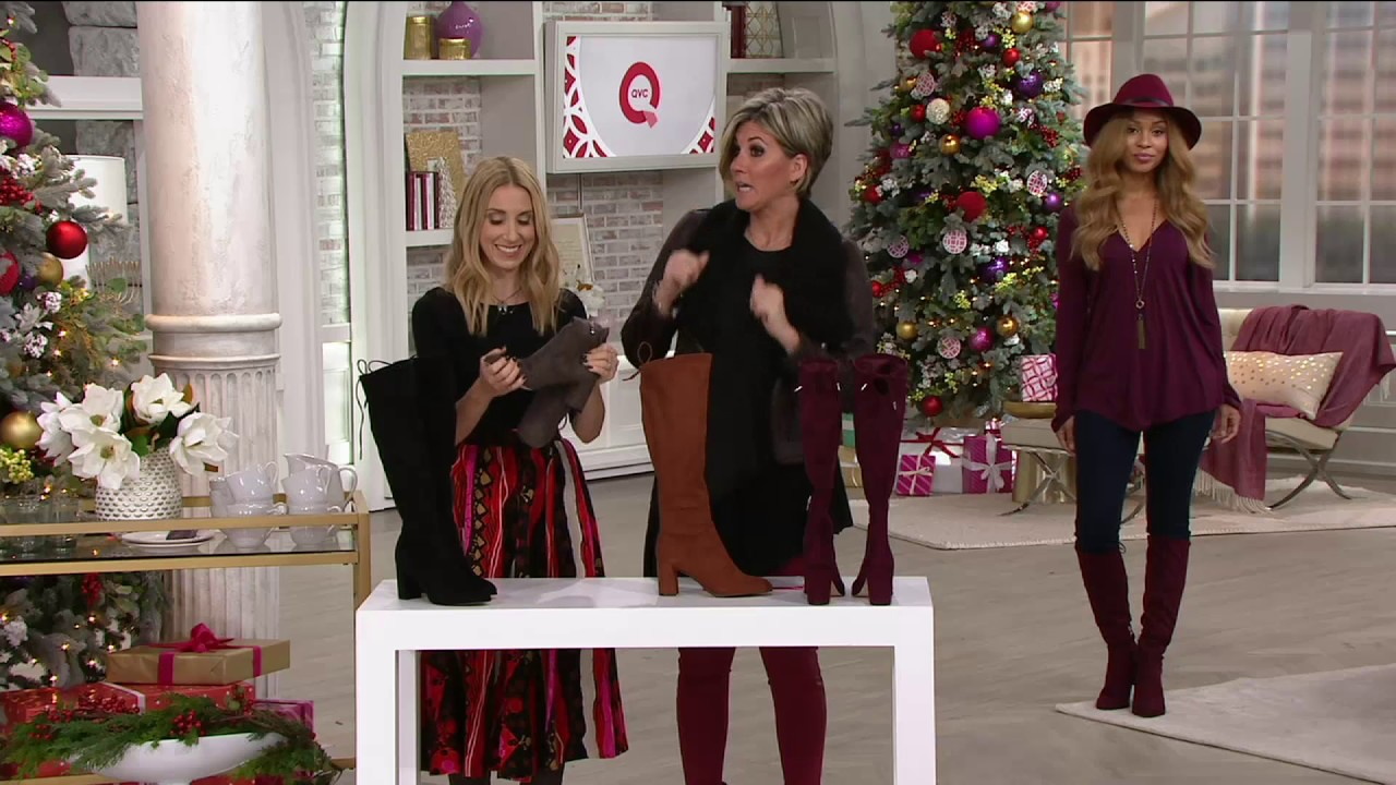fa8c7bc245e Marc Fisher Faux Suede Tall Shaft Boots - Lupo on QVC - YouTube