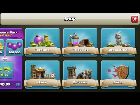Clash of clans Buying Barbarian King