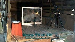Massive SHARP Flatscreen TV Implosion!