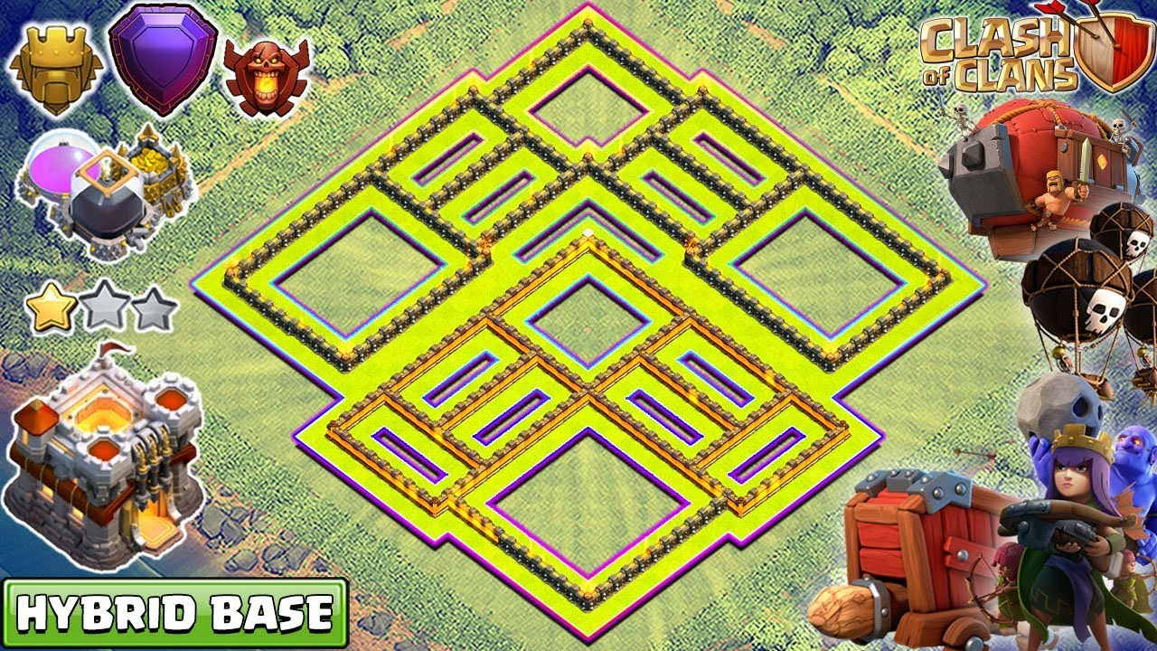 Anti Everything Coc Th11 Farming Base 10