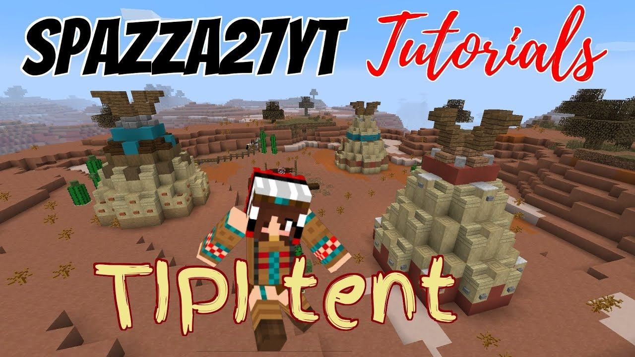 Minecraft Tipi Tent Tutorial