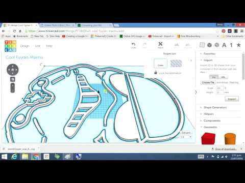 Tinkercad – scan a drawing and import