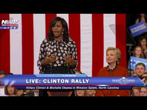 FULL SPEECH: First Lady Michelle Obama At Clinton Rally - North Carolina 10/27/16