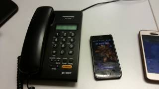 How do telephone conference using landline