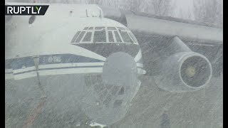 White out! Russian Air Force pilots train in severe weather conditions