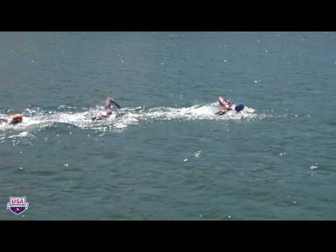 2017 MEN'S 10K OPEN WATER NATIONAL CHAMPIONSHIPS - Full Race From Boat