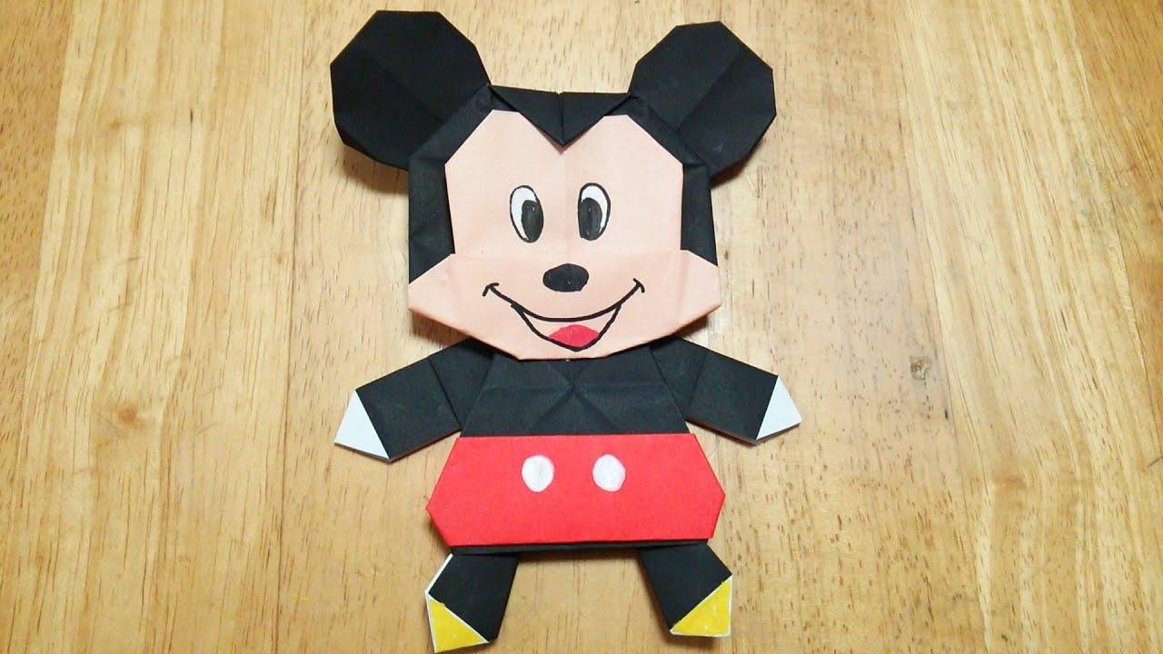 すべての折り紙 赤 折り紙 : 折り紙(おりがみ)・ミッキー ...