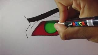 Drawing Kakuzu eye - Desenhando olho Kakuzu - Akatsuki Naruto Shippuden