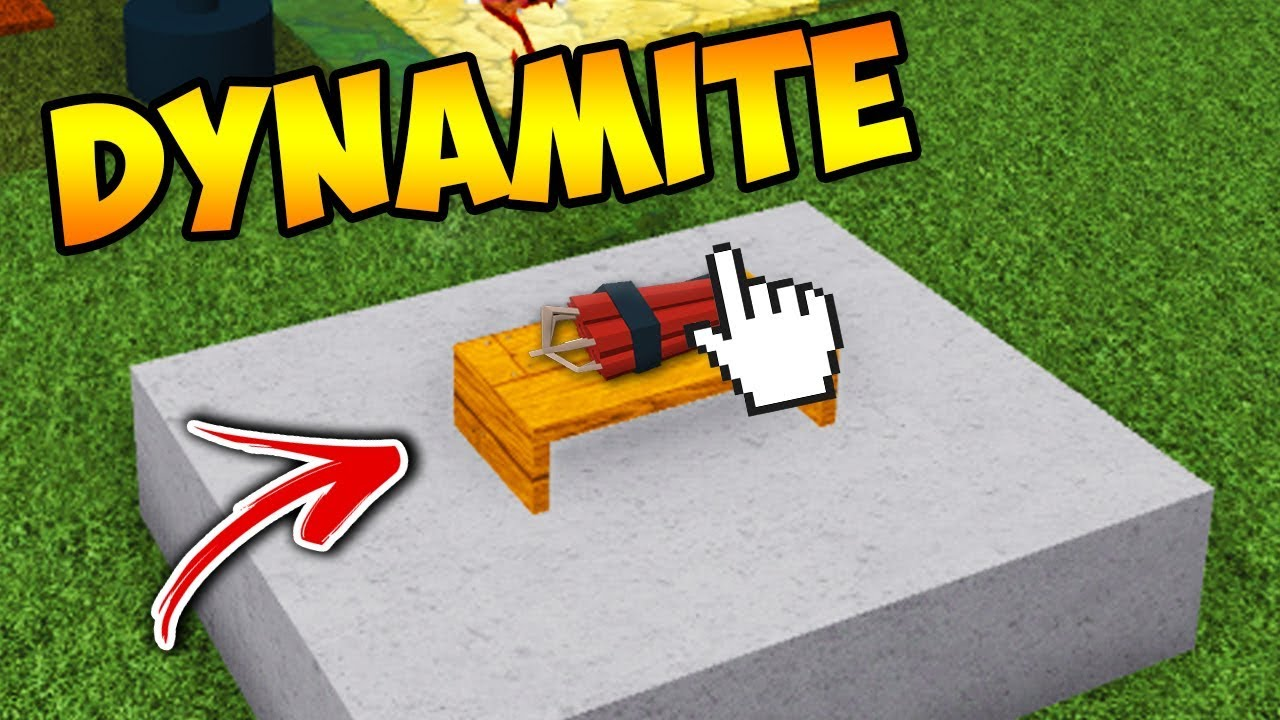 New Dynamite Item Build A Boat For Treasure Roblox Youtube