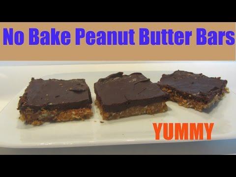 No Bake No Cook Peanut Bars Dessert Recipe Quick And Easy Desserts