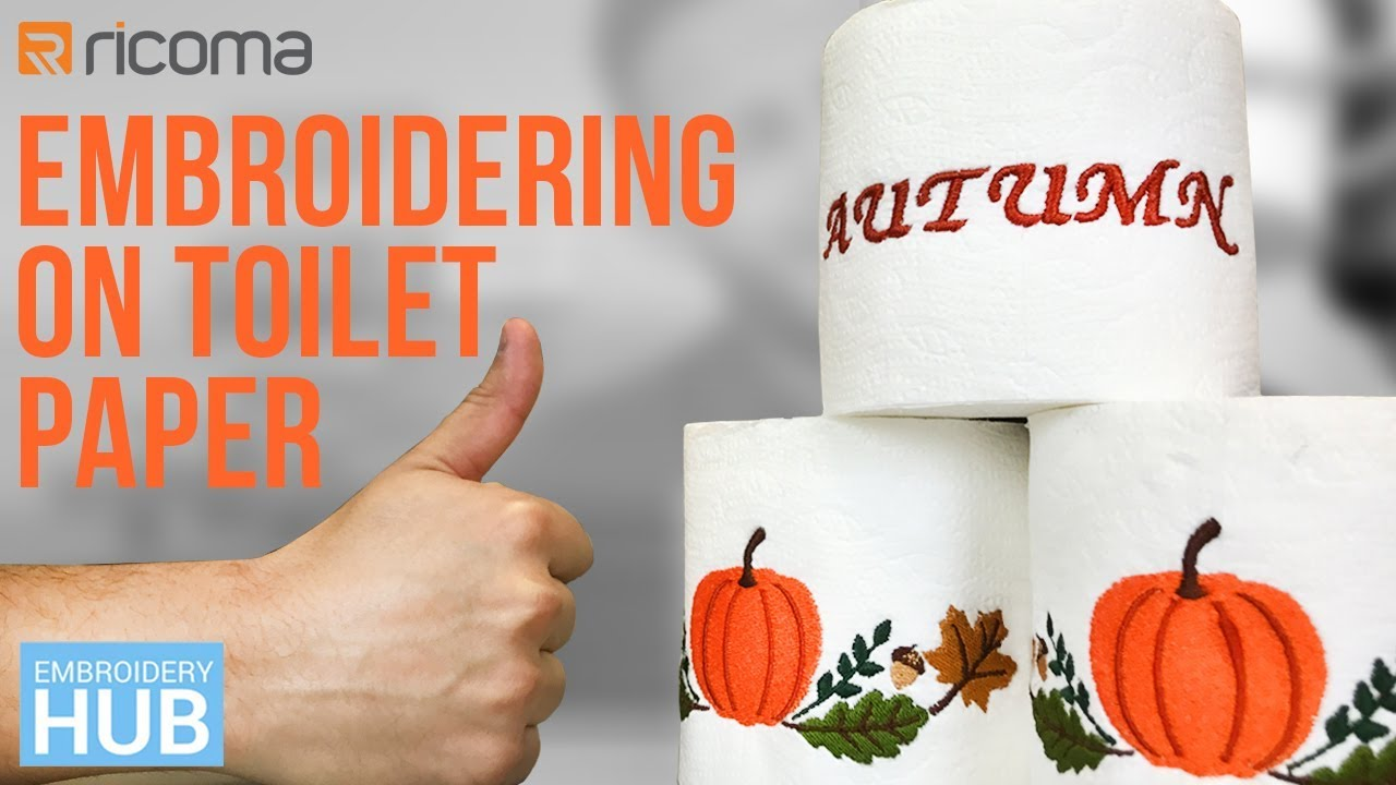 Embroidery designs for toilet paper - Embroidery Hub Ep 16 How To Embroider Toilet Paper Embroidering Toilet Paper Tutorial