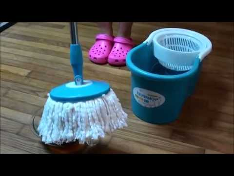 ISPINMOP hurricane Easy magic floor mop 360° bucket 2 heads microfiber spin spinning rotating head