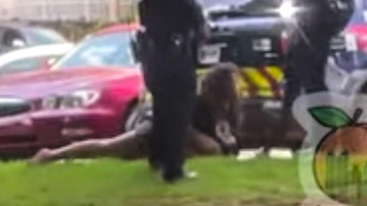 Cop Kicks Handcuffed Woman In The Head