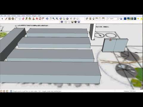 Create wireframe model in SketchUp from 2D graphic