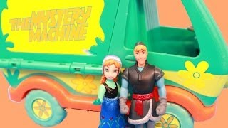 Kristoff & Anna MYSTERY MACHINE RV CAMPOUT HONEYMOON VACATION Troll