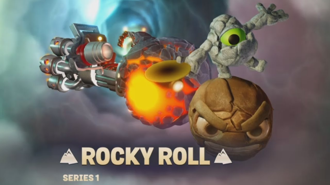 Skylanders Superchargers - Rocky Roll driving a Vehicle