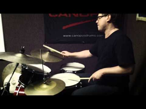 Peter Retzlaff Playing the Canopus New YAIBA Bop Kit