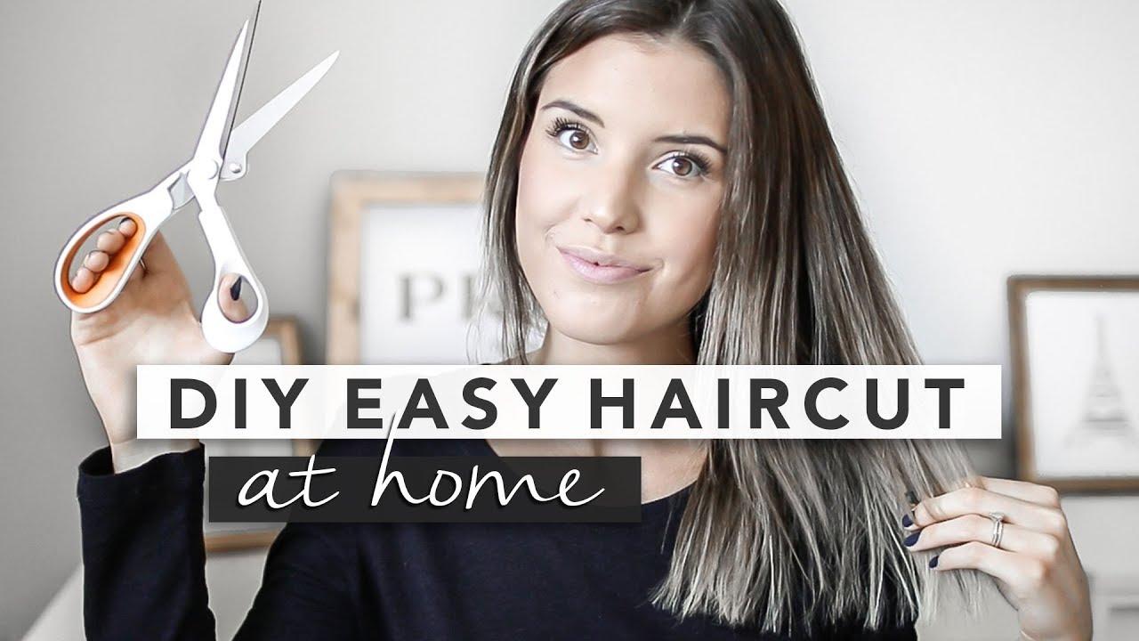 Diy Haircut How I Cut My Hair At Home By Erin Elizabeth Youtube