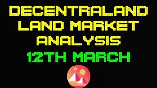 Decentraland Land Market Analysis | 12th March | Cheapest land is 12,000MANA+!