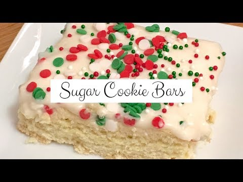 Sugar Cookie Bars | Christmas Cookie Collaboration!