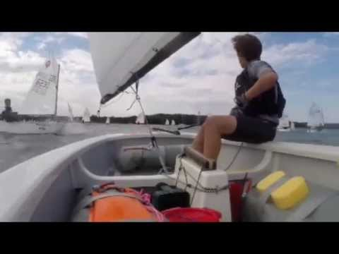 Light wind optimist sailing Chichester Race 1