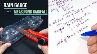 How to make a Rain Gauge and measure rainfall