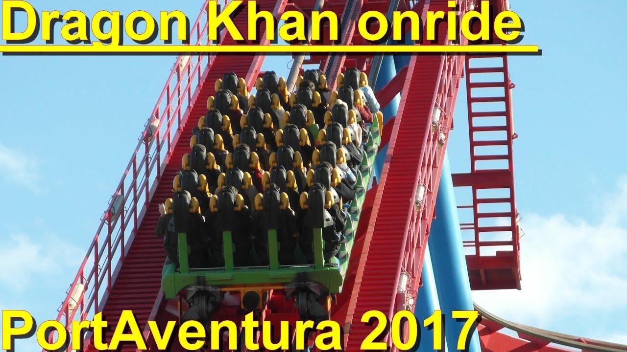 Dragon Khan Onride HD POV PortAventura Dragon Khan Port - Port aventura billet