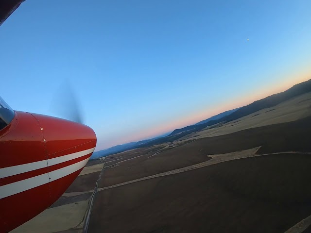Sunset landing at Rock Creek
