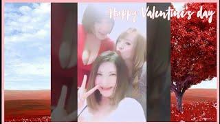 Happy Valentine's day with Anri Okita, Hitomi Tanaka & Kaho Shibuya