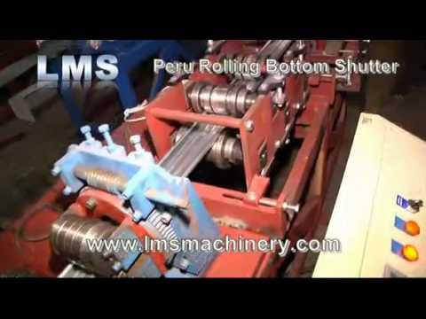 LMS Rolling Bottom Shutter Roll Forming Machine - for Peru Market