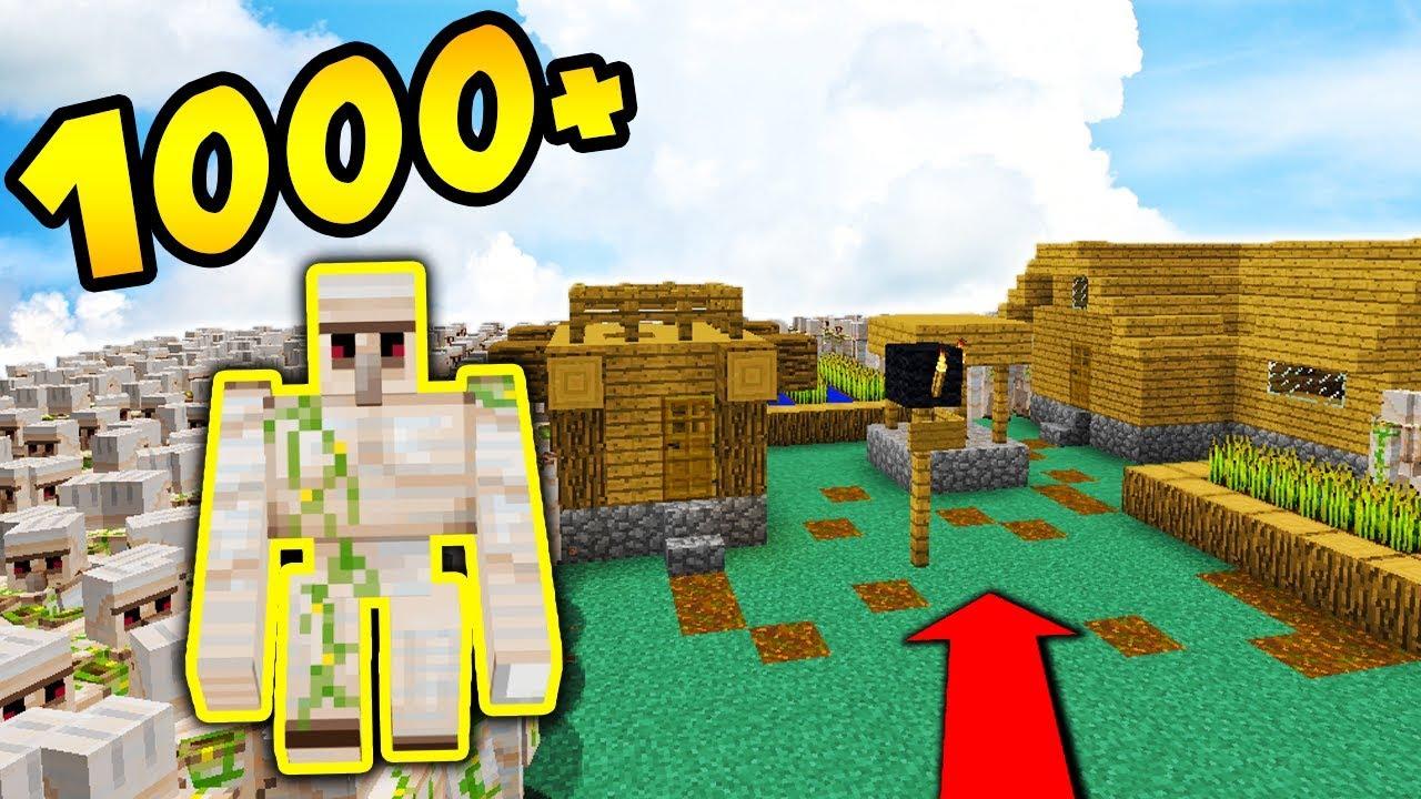 1000 IRON GOLEMOW vs WIOSKA NPC!! – MINECRAFT APOKALIPSA #33